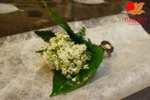 accessoire floral poche veste du marié par Fleureve en Martinique