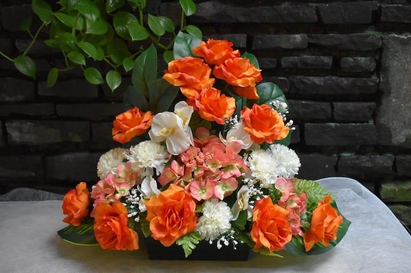 C'est la Toussaint chez Fleurêve avec les fleurs en tissu !