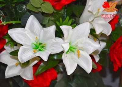fleureve - 03 bouquets fleurs en tissu et synthetiques