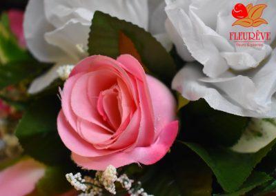 fleureve - 04 bouquets fleurs en tissu et synthetiques