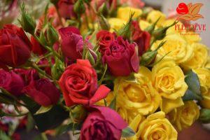 bouquet roses spray fleureve en martinique