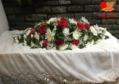 gerbe deuil tons pastel - fleureve 012